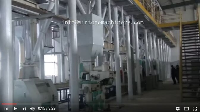 150T/Day Corn Grits, Flour and Germ Processing Line built in Diwang Company, Anhui Province