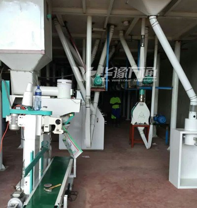 40T/Day Maize Milling Line Installed in Burundi
