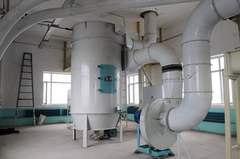Maize milling plant or corn flour milling plant dedusting