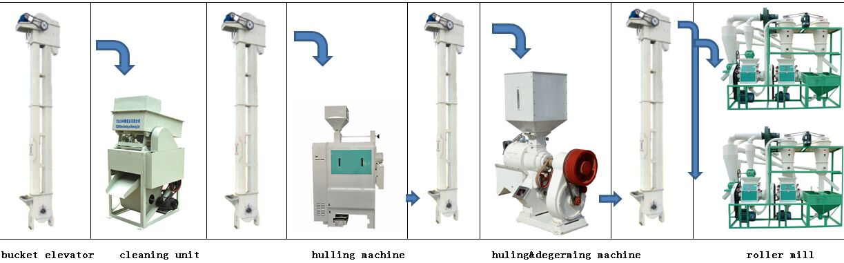 20T/Day maize milling line