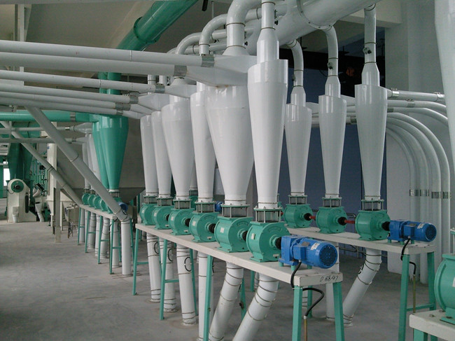 Maize milling plant or corn flour milling plant pneumatic conveying
